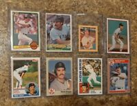 (8) Wade Boggs 1983 Topps Fleer Donruss Rookie 1984 1985 Card Lot RC Red Sox HOF