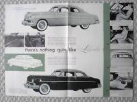 1951 Lincoln Brochure / POSTER: SPORT SEDAN, 6 Passenger Coupe, Hydra-Matic