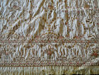 Antique 1880 Tapestry Silk Embroidered W Fringe 52  X 50