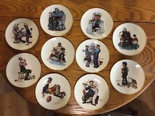 10 Danbury Mint Norman Rockwell Fine China Plate Collection Limited Edition 1978