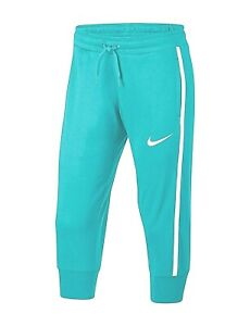 Nike Big Girls Capri Slim Fit Jogger Pants Large Teal Free 2-3 Day Ship NWT