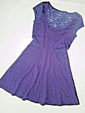 AMERICAN EAGLE ae DRESS BLUE short sleeve CAP lace  size XS