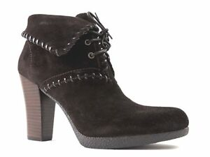 Enzo Angiolini Women's Andre Fashion - Ankle Boots Dark Brown Suede Size 10 M