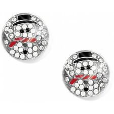 BRIGHTON BLINGY CHRISTMAS FROSTY SNOWMAN WINTER HOLIDAY LET IT SNOW EARRINGS