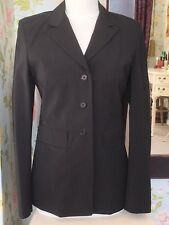 Ladies Black PRESS & BASTYAN Fitted & Lined Long Jacket/Short Coat Size 12 - VGC