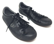 Fred Perry Men's Size 12 Kingston Unisex Trainers Black Shoes Fashion Sneakers
