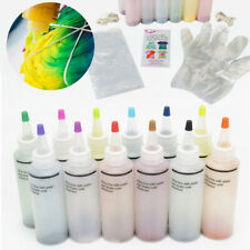 12 Bottle One Step Tie Dye Kit Vibrant Fabric Textile Paint Multi-Color Kit DIY