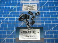 250V 10uF Radial Electrolytic Capacitors - Nichicon VR Series - 10 Pieces
