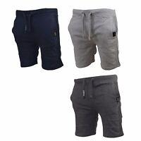 Mens Jogger Shorts Crosshatch Casual Sweatpants Jogging Gym Running Pants