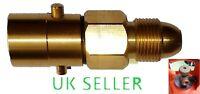 FILL GAS BOTTLE UK Bayonet LPG Filler to Bottle BRASS ADAPTER RV MOTORHOME