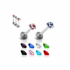 Stone 16g (1.2 mm) Stud Body Piercing Jewellery
