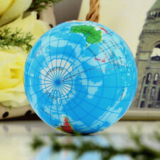 World Map Earth Globe Soft Squeeze Foam Ball Hand Wrist Exercise Stress 7.5cmFBC