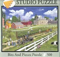 NIB Hancock Shaker Village  by Bob Fair 500 Pc Jigsaw Puzzle *  Bits and Pieces