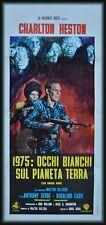 locandina 1975:OCCHI BIANCHI SUL PIANETA TERRA THE OMEGA MAN  CHARLTON HESTON