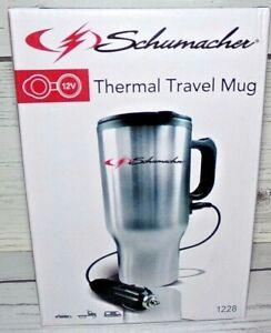 New 16 oz Schumacher 12V Stainless Steel Travel Mug Model #1228