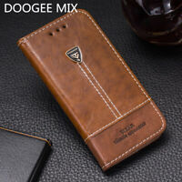 Wallet PU Leather Phone Case For DOOGEE MIX Flip Silicone Card Slots Cover 5.5''