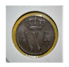 Netherlands 1/2 Cent 1873 (Sword) Almost Uncirculated Coin
