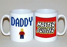 Daddy Lego mug Master Builder Fathers Day gift to order