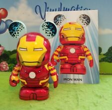 "Disney Vinylmation 3"" Park Set 1 Marvel Avengers Iron Man with D23 Card"