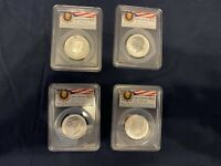 2014 SIGNED ANNIVERSARY SILVER KENNEDY 4 COIN PCGS  SET  **FIRST STRIKE**