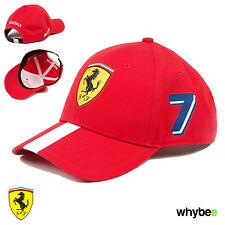 Sale! 2017 Ferrari Kimi Raikkonen #7 Special Edition F1 Driver Cap Red/White