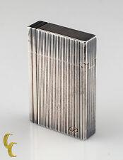 S.T. Dupont Vertical Lignes Briquet Gatsby Lighter Silver Tone