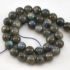 """*NY6DESIGN 10x10mm AAA+ Natural Shiny Labradorite Round Beads 15""""(LA53)c"""
