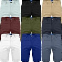 New Men Stretch Chino Shorts Summer Casual Half Pant Cotton Spandex Cargo Combat
