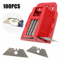 100 replacement Utility Cutter Blades to Fit Stanley Utility tool With Dispenser