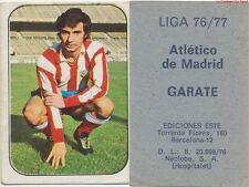 JOSE GARATE # ESPANA ATLETICO MADRID CARD TARJETA ESTE LIGA 1977
