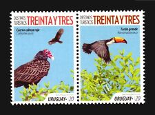 BIRD NEW ISSUE 2018 URUGUAY STAMP MNH SET TOUCAN CROW VOGEL AVES