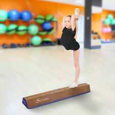 4' Sectional Floor Balance Beam Kids Gymnastic Performance Training Soft Suede