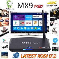 MX9 PRO HD 4K TV Box 2GB+16GB Ultra Android 7.1 Internet Media Player BLACK NEW