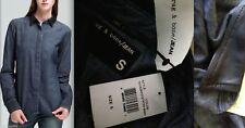 RAG & BONE Jean Chambray Lamb Leather Collar Shirt Jacket Small NWT NEW $275+