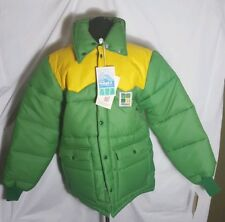 HUBBARD Puffer Coat Mens M VINTAGE Made in USA Green Rockabilly New With Tags