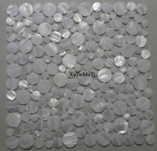 11pcs white penny round shell mosaic tile mother of pearl kitchen bathroom wall