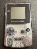 Nintendo Game Boy Color Handheld Console Purple Working Great. Console Only