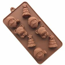 Christmas Silicone Cake Mold Chocolate Mold Cupcake Liner Baking Cup Mold