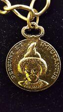 Vintage Genghis Khan Pendant Necklace Pereunt Et Imputantur Metal Charm
