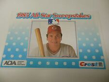1985 MLB BASEBALL ALL STAR SWEEPSTAKES JOHNNY BENCH CINCINNATI REDS ENTRY FORM