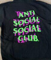 Anti Social Social Club ASSC Upset Hoodie Medium XXL Sweatshirt Pink Green