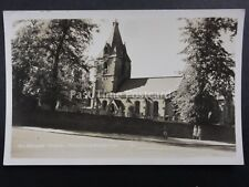 Nottinghamshire MANSFIELD WOODHOUSE St Edmunds Church Old RP Postcard by Bourne