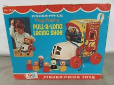Vintage 1970 Fisher Price Pull-A-Long Lacing Shoe - Complete