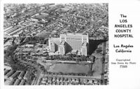 Airview Los Angeles County Hospital Davis Art Photo RPPC Photo Postcard 13206