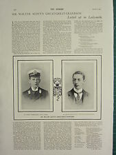 1900 VICTORIAN BOER WAR PRINT ~ MAXWELL-SCOTT LOCKED UP LADYSMITH WALTER SCOTT