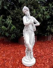 Gartenfigur Menschen Gartendeko Steinguss Jungfrau Skulptur Aktfigur 80 cm