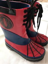 Disney Store Spider-Man  Rain Boots  Shoes Size 10