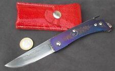 Coltello tascabile collezione forgiato artigianale custom damasco titanio