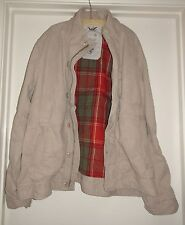 French Connection FCUK Men's Tan Khaki 100% Cotton Twill Coat Jacket 556T2 2XL