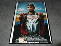 Rare Signed Autograph Michael J Fox Teen Wolf Poster with COA Back to the Future